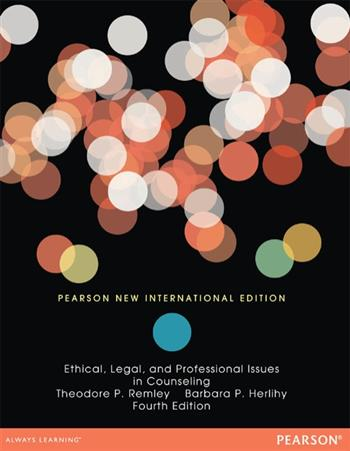 9781292055084 - Ethical, Legal, and Professional Issues in Counseling: Pearson New International Edition