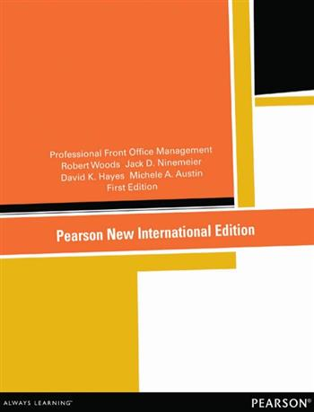 9781292056050 - Professional Front Office Management: Pearson New International Edition
