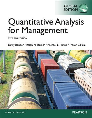 9781292059730 - Quantitative Analysis for Management, Global Edition