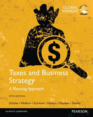 9781292065571 - Taxes and Business Strategy
