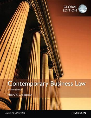 9781292082653 - Contemporary Business Law, Global Edition