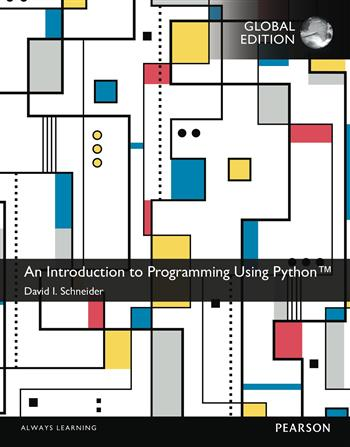 9781292103440 - An Introduction to Programming Using Python, Global Edition