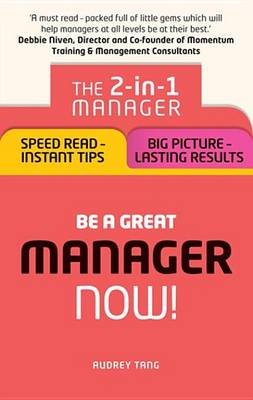 9781292119694 - Be a Great Manager – Now!