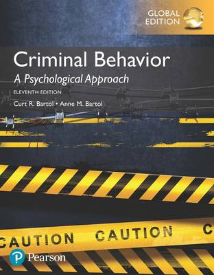 9781292157719 - Criminal Behavior: A Psychological Approach, Global Edition