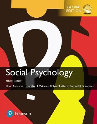 9781292186542 - Social Psychology, Global Edition