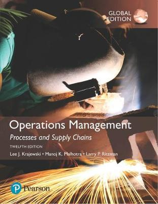 9781292259987 - Operations Management: Processes and Supply Chains with MyLab Operations Management, Global Edition