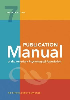 9781433832154 - Publication Manual of the American Psychological Association