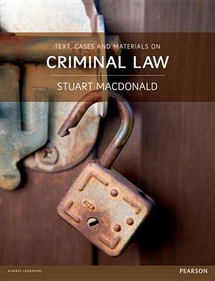 9781447921608 - Text, Cases and Materials on Criminal Law
