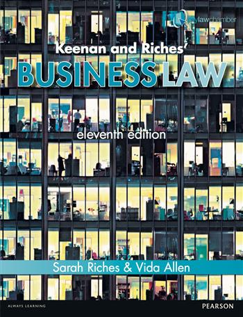 9781447922940 - Keenan and Riches' Business Law 11th edn