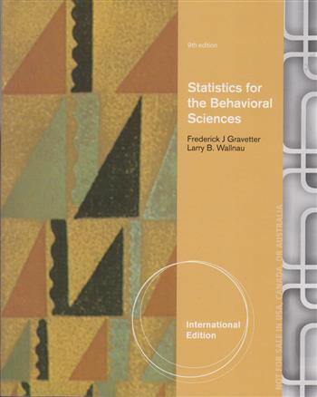 9781473733329 - Statistics for the Behavioral Sciences
