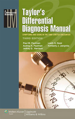 9781496382900 - Taylor's Differential Diagnosis Manual