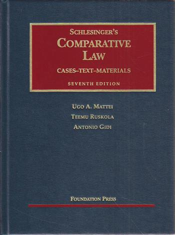 9781587785917 - Schlesinger's Comparative Law, 7th