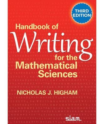 9781611976090 - Handbook of Writing for the Mathematical Sciences