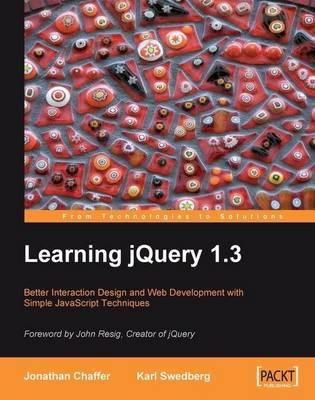 9781847196705 - Learning jquery 1.3