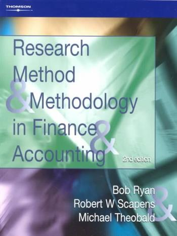 9781861528810 - Research method and methodology in finance and accounting