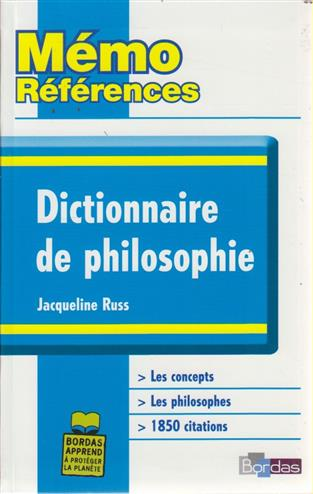 9782047307731 - Dictionnaire de philosophie memo references