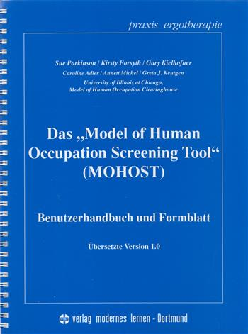 "9783808005910 - Das ""Model of Human Occupation Screening Tool' (MOHOST)"