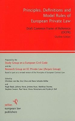 9783866530973 - Principles, definitions and model rules of european private law