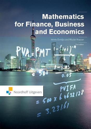 9789001853198 - Mathematics for Finance, Business and Economics