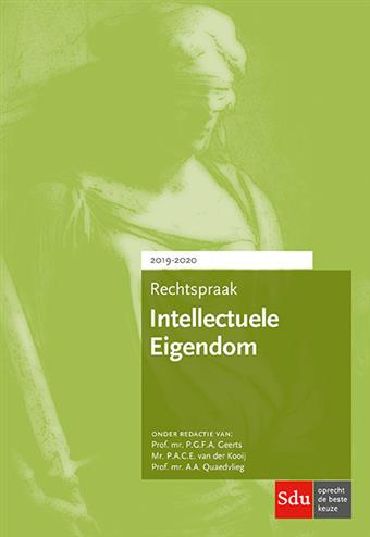 9789012403856 - Rechtspraak Intellectuele Eigendom 2019-2020