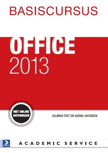 9789012585330 - Basiscursus Office 2013