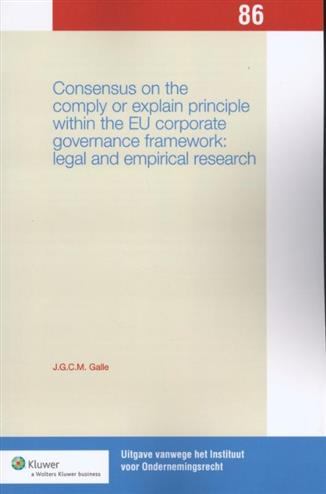 9789013105827 - Consensus on the comply or explain principle within the EU corporate