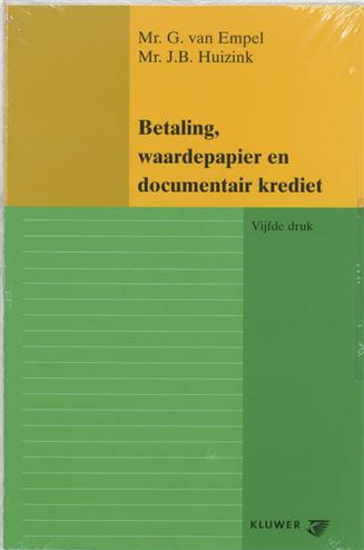 9789026837234 - Betaling, waardepapier en documentair krediet