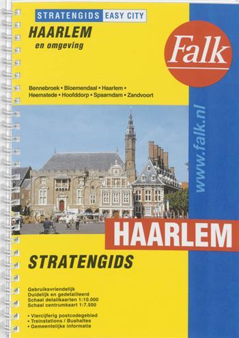 Falk stratengids Haarlem en omgeving 2e druk recente uitgave