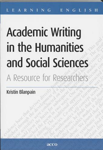 9789033461132 - Academic writing in the humanities and social sciences