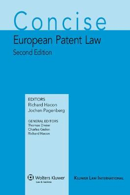 9789041127457 - Concise European Patent Law