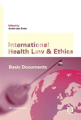 9789046609484 - International Health Law and Ethics