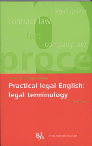 9789054546467 - Practical legal english legal terminology