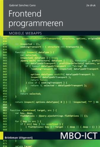 9789057523519 - Frontend programmeren, incl. mobiele applicaties
