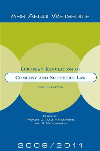9789069167718 - European regulation of company and securities law 2009-2011
