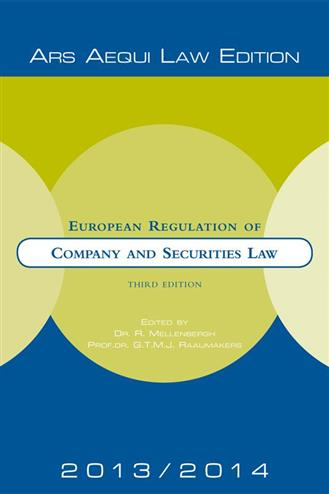 9789069169668 - European regulation of company and securities law 2012-2014