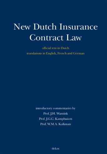 9789086920037 - New dutch insurance contract law