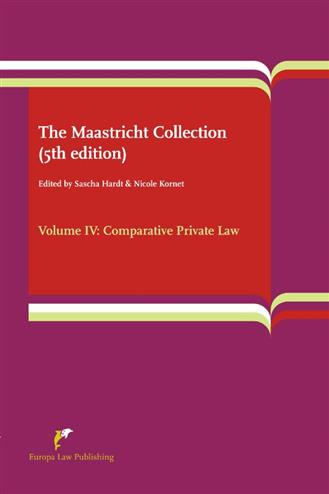 9789089521972 - The Maastricht Collection (5th edition) Volume IV: Comparative Private Law