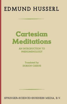 9789401758284 - Cartesian Meditations: An Introduction to Phenomenology