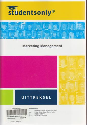 9789460660207 - Marketing management uittreksel