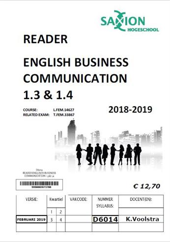 9990002073700 - READER ENGLISCH BUSINESS COMMUNICATION  1,3& 1,4