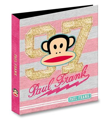9990087657116 - Paul Frank College map 23-rings roze